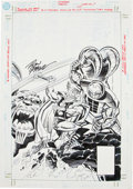 Original Comic Art:Covers, Ron Frenz and Bill Sienkiewicz What If #107 Thor vs. theDestroyer and Mangog Cover Original Art (Marvel, 1998)....