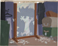 Animation Art:Production Drawing, Peter Alvarado Two's a Crowd Background Animation Art (Warner Bros., 1950)....