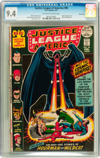 Justice League of America #96 Twin Cities pedigree (DC, 1972) CGC NM 9.4 Off-white to white pages