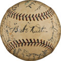 Autographs:Baseballs, 1926 New York Yankees Team Signed Baseball, Second Finest Known!...