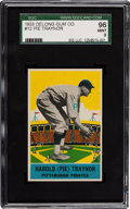 Baseball Cards:Singles (1930-1939), 1933 Delong Pie Traynor #12 SGC 96 Mint 9 - The Only Delong GradedMint by SGC! ...