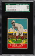 Baseball Cards:Singles (1930-1939), 1933 Delong Chick Hafey #19 SGC 86 NM+ 7.5 - Finest SGC Copy! ...