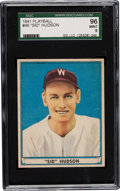 Baseball Cards:Singles (1940-1949), 1941 Play Ball Sid Hudson #46 SGC 96 Mint 9 - Pop One with NoneHigher! ...