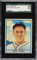 Baseball Cards:Singles (1940-1949), 1941 Play Ball Happy Milnar #33 SGC 96 Mint 9 - Pop One, None Higher! ...