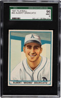 Baseball Cards:Singles (1940-1949), 1941 Play Ball Albert Brancato #43 SGC 96 Mint 9 - Pop One with None Higher! ...