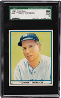 Baseball Cards:Singles (1940-1949), 1941 Play Ball Tommy Henrich #39 SGC 96 Mint 9 - Pop One with NoneHigher! ...