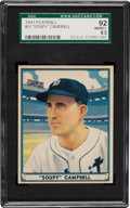 Baseball Cards:Singles (1940-1949), 1941 Play Ball Bruce Campbell #37 SGC 92 NM/MT+ 8.5 - Pop Two withNone Higher....