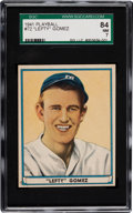 Baseball Cards:Singles (1940-1949), 1941 Play Ball Lefty Gomez #72 SGC 84 NM 7 - Pop Two, the HighestGrade Available....