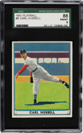 Baseball Cards:Singles (1940-1949), 1941 Play Ball Carl Hubbell #6 SGC 88 NM/MT 8 - Highest SGC GradedAvailable!...