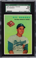 Baseball Cards:Singles (1950-1959), 1954 Wilson Franks Gil Hodges SGC 88 NM/MT 8. ...