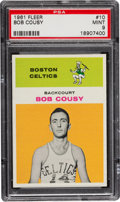 Basketball Cards:Singles (Pre-1970), 1961 Fleer Bob Cousy #10 PSA Mint 9....