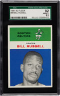 Basketball Cards:Singles (Pre-1970), 1961 Fleer Bill Russell #38 SGC 92 NM/MT+ 8.5 - Highest SGC GradedKnown. ...