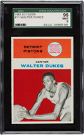 Basketball Cards:Singles (Pre-1970), 1961 Fleer Walter Dukes #11 SGC 96 Mint 9 - Pop One with NoneHigher! ...