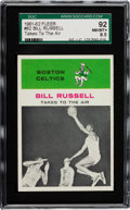Basketball Cards:Singles (Pre-1970), 1961 Fleer Bill Russell IA #62 SGC 92 NM/MT+ 8.5 - Highest SGCGrade....