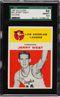 Basketball Cards:Singles (Pre-1970), 1961 Fleer Jerry West #43 SGC 92 NM/MT+ 8.5 - Pop Two with NoneHigher! ...