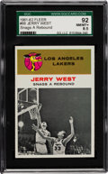 Basketball Cards:Singles (Pre-1970), 1961 Fleer Jerry West IA #66 SGC 92 NM/MT+ 8.5....