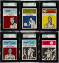 Basketball Cards:Lots, 1961 Fleer Basketball SGC 88 NM/MT 8 Group (6). ...