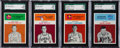 "Basketball Cards:Lots, 1961 Fleer Basketball SGC 92 NM/MT+ 8.5 Group (4) - With Two ""PopOne with None Higher"" Status. ..."