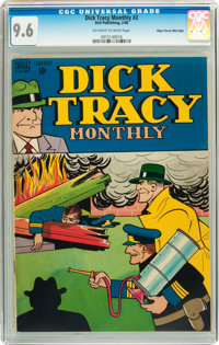 Dick Tracy Monthly #2 Mile High pedigree (Dell, 1948) CGC NM+ 9.6 Off-white to white pages