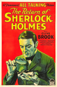 "The Return of Sherlock Holmes (Paramount, 1929). One Sheet (27"" X 41"") Style A"
