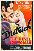 "Movie Posters:Romance, The Devil is a Woman (Paramount, 1935). One Sheet (27"" X 41"") Style B.. ..."