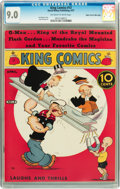 Platinum Age (1897-1937):Miscellaneous, King Comics #13 Mile High pedigree (David McKay Publications, 1937)CGC VF/NM 9.0 Off-white to white pages....