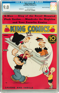 King Comics #13 Mile High pedigree (David McKay Publications, 1937) CGC VF/NM 9.0 Off-white to white pages
