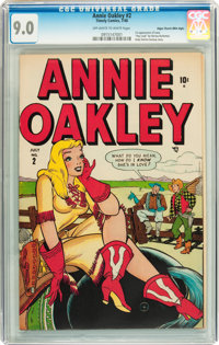 Annie Oakley #2 Mile High pedigree (Timely/Atlas, 1948) CGC VF/NM 9.0 Off-white to white pages