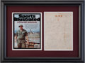 Football Collectibles:Others, Circa 1968 Bob Kalsu Signed Sheet - Only Pro Athlete Killed in Vietnam....