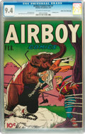 Golden Age (1938-1955):Western, Airboy Comics V4#1 Mile High pedigree (Hillman Fall, 1947) CGC NM9.4 Off-white to white pages....
