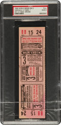 Baseball Collectibles:Tickets, 1934 World Series Game Three Full Ticket, PSA Good 2....