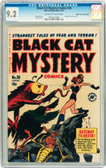 Golden Age (1938-1955):Horror, Black Cat Mystery #30 Mile High pedigree (Harvey, 1951) CGC NM- 9.2Off-white to white pages....