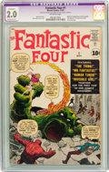 Silver Age (1956-1969):Superhero, Fantastic Four #1 (Marvel, 1961) CGC Apparent GD 2.0 Moderate (P) Off-white pages....