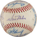 Autographs:Baseballs, 1968 Los Angeles Dodgers Team Signed Baseball. ...