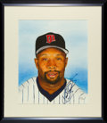 Baseball Collectibles:Others, Kirby Puckett Original Watercolor Painting Signed And Framed....