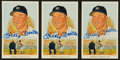 Autographs:Post Cards, Mickey Mantle Signed Perez Steele Postcards Lot Of 3....