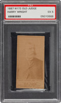 Baseball Cards:Singles (Pre-1930), 1887 N172 Old Judge Harry Wright PSA EX 5. ...