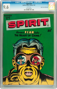 The Spirit #9 Mile High pedigree (Quality, 1947) CGC NM+ 9.6 White pages