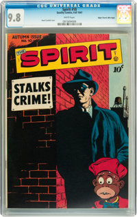 The Spirit #10 Mile High pedigree (Quality, 1947) CGC NM/MT 9.8 White pages