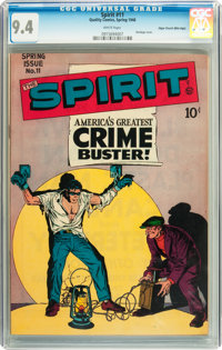 The Spirit #11 Mile High pedigree (Quality, 1948) CGC NM 9.4 White pages