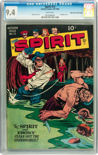 The Spirit #13 Mile High pedigree (Quality, 1948) CGC NM 9.4 White pages