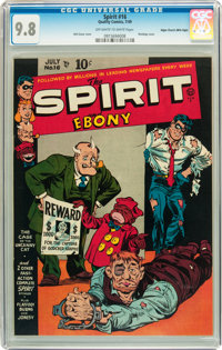 The Spirit #16 Mile High pedigree (Quality, 1949) CGC NM/MT 9.8 Off-white to white pages
