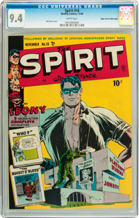 The Spirit #18 Mile High pedigree (Quality, 1949) CGC NM 9.4 White pages