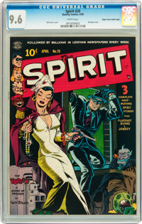 The Spirit #20 Mile High pedigree (Quality, 1950) CGC NM+ 9.6 White pages