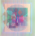 Prints, YAACOV AGAM (Israeli, b. 1928). Untitled. Color agamograph. 13 x 13 inches (33.0 x 33.0 cm). Ed. 13/99. Signed lower rig...