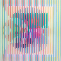 YAACOV AGAM (Israeli, b. 1928) Untitled Color agamograph 13 x 13 inches (33.0 x 33.0 cm) Ed. 1