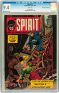 Golden Age (1938-1955):Crime, The Spirit #1 Mile High pedigree (Fiction House, 1952) CGC NM 9.4 White pages....