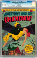 Golden Age (1938-1955):Horror, Adventures Into The Unknown #23 (ACG, 1951) CGC NM 9.4 Off-white pages....