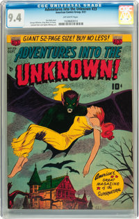 Adventures Into The Unknown #23 (ACG, 1951) CGC NM 9.4 Off-white pages