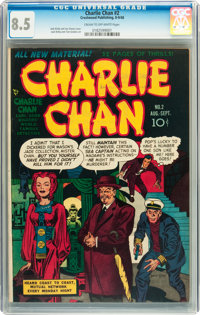 Charlie Chan #2 (Crestwood/Headline, 1948) CGC VF+ 8.5 Cream to off-white pages
